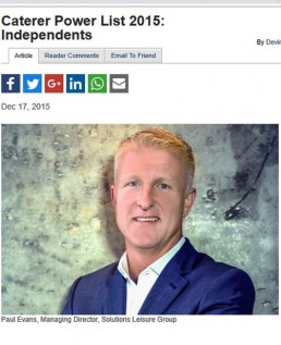 CATERER POWER LIST 2015: INDEPENDENTS