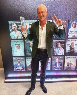 PAUL EVANS WON THE INNOVATIVE F&B ENTREPRENEUR OF THE YEAR AWARD AT THE AGILITY AWARDS BY ENTREPRENEUR MIDDLE EAST